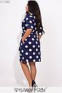 Платье в принт в больших размерах с верхом на запах и рукавом до локтя 1blr334, фото 4