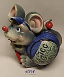 Копилка керамическая с символом 2020 года Крысы 10,5*10,5 см, фото 3