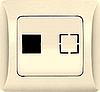 """РК-ЛС Розетка компьютерная RJ45 Cat.5 (слоновая кость) серия """"Лира"""" (без рамки)"""