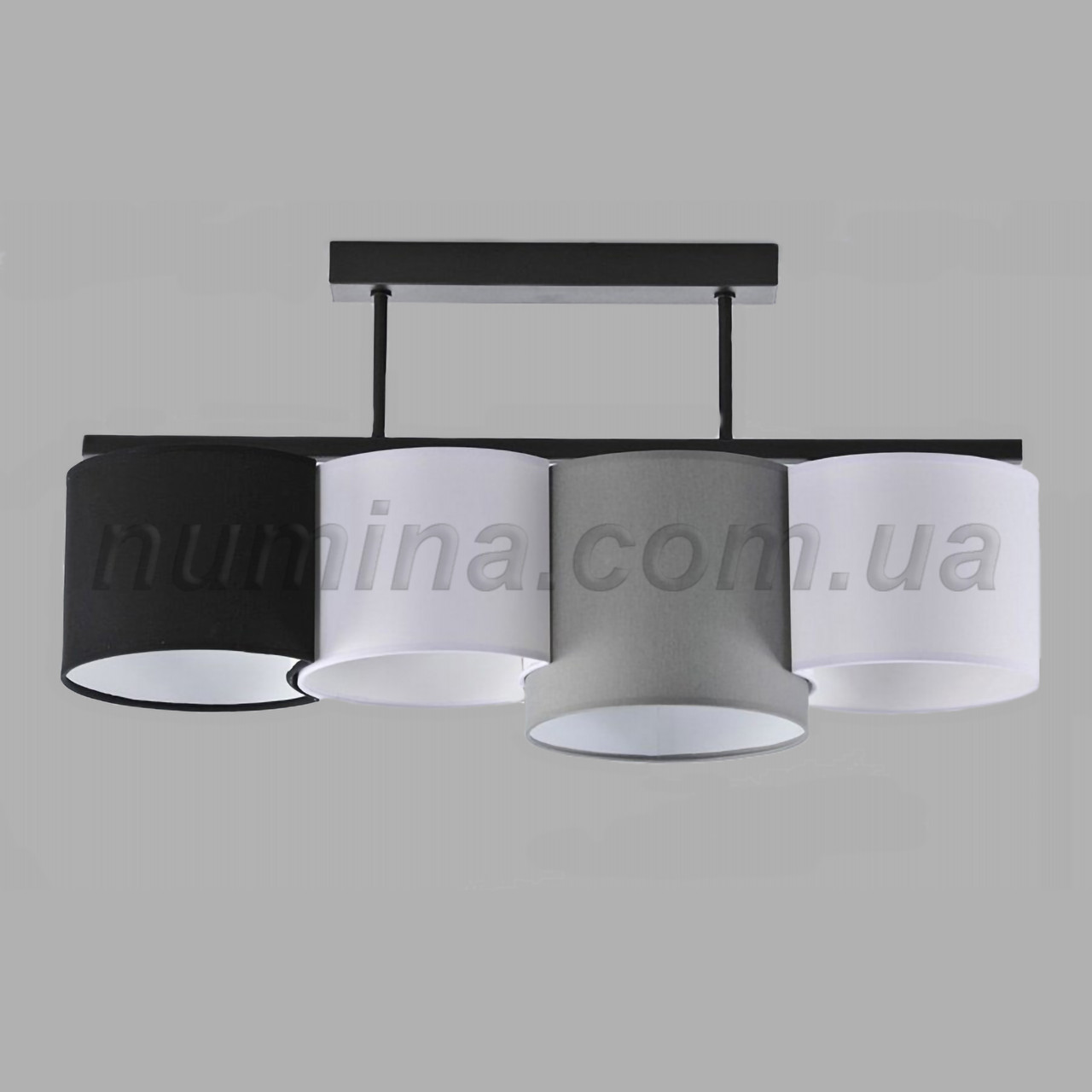Люстра потолочная на 4 лампы 29-H174/4A BK+MIX