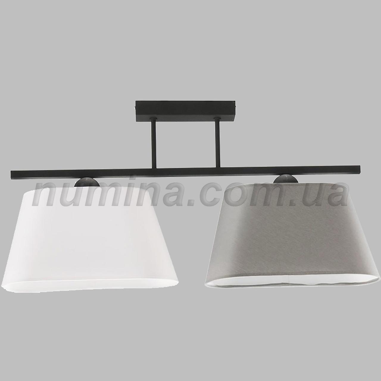 Люстра стельова на 2 лампи 29-H182/2I BK+WT+SM