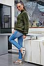 Свитер женский зелёный, р.42-48, вязка, фото 5