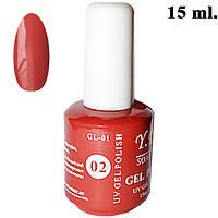 Yre Красный Гель-лак для Ногтей 15 мл. Тон GL-01-02 Гель-лаки