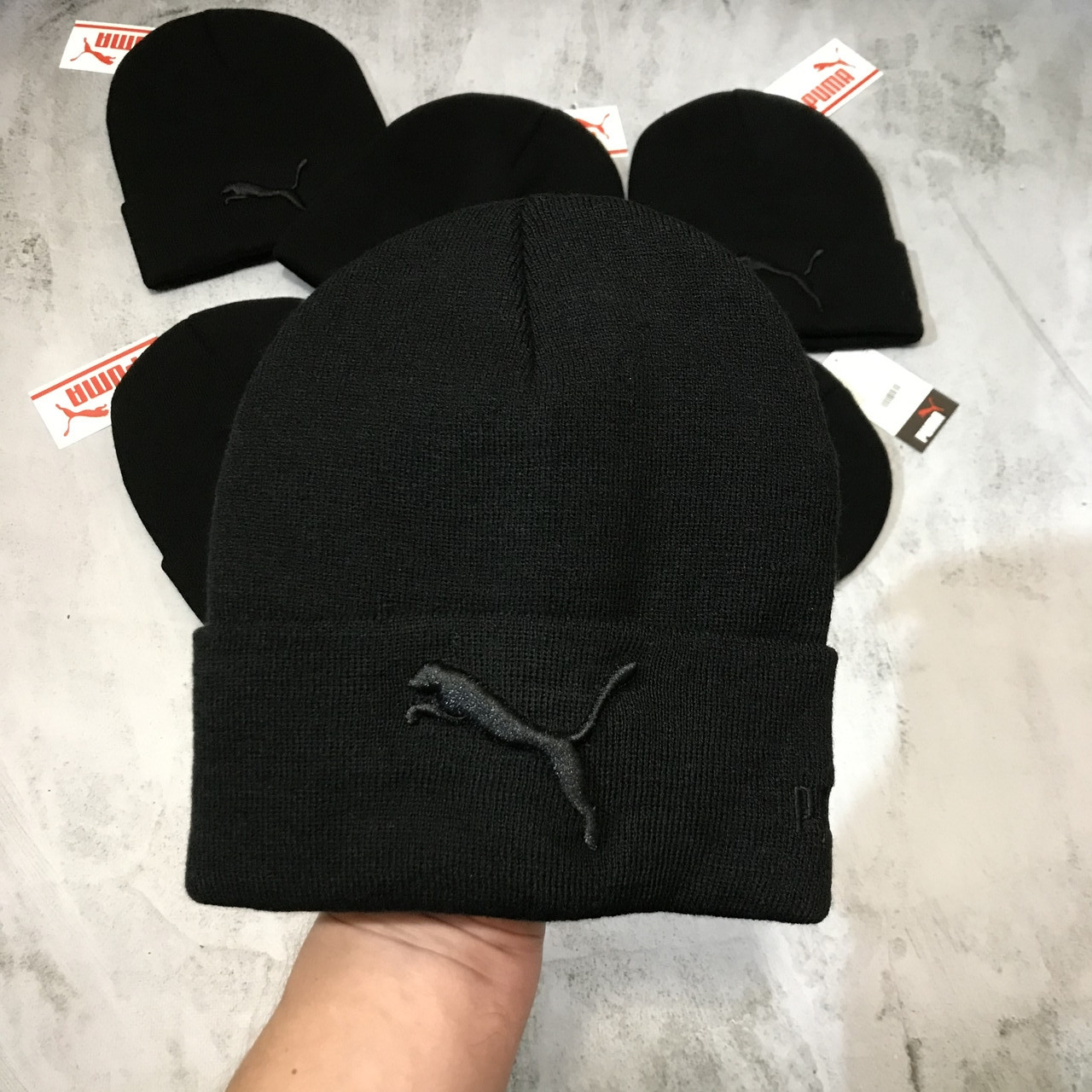 Теплая мужская спортивная шапка Puma