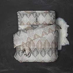 Двуспальный комплект постельного белья 180х220 из сатина (50х70) Нежное утро
