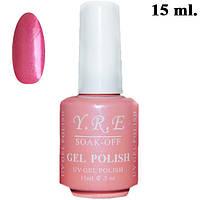 Yre Малиново- Розовый Гель-лак для Ногтей 15 мл. Тон GL-01-134 Гель Лак на Короткие Ногти