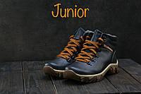 Ботинки подростковые Twics К2 синие (натуральная кожа, зима)