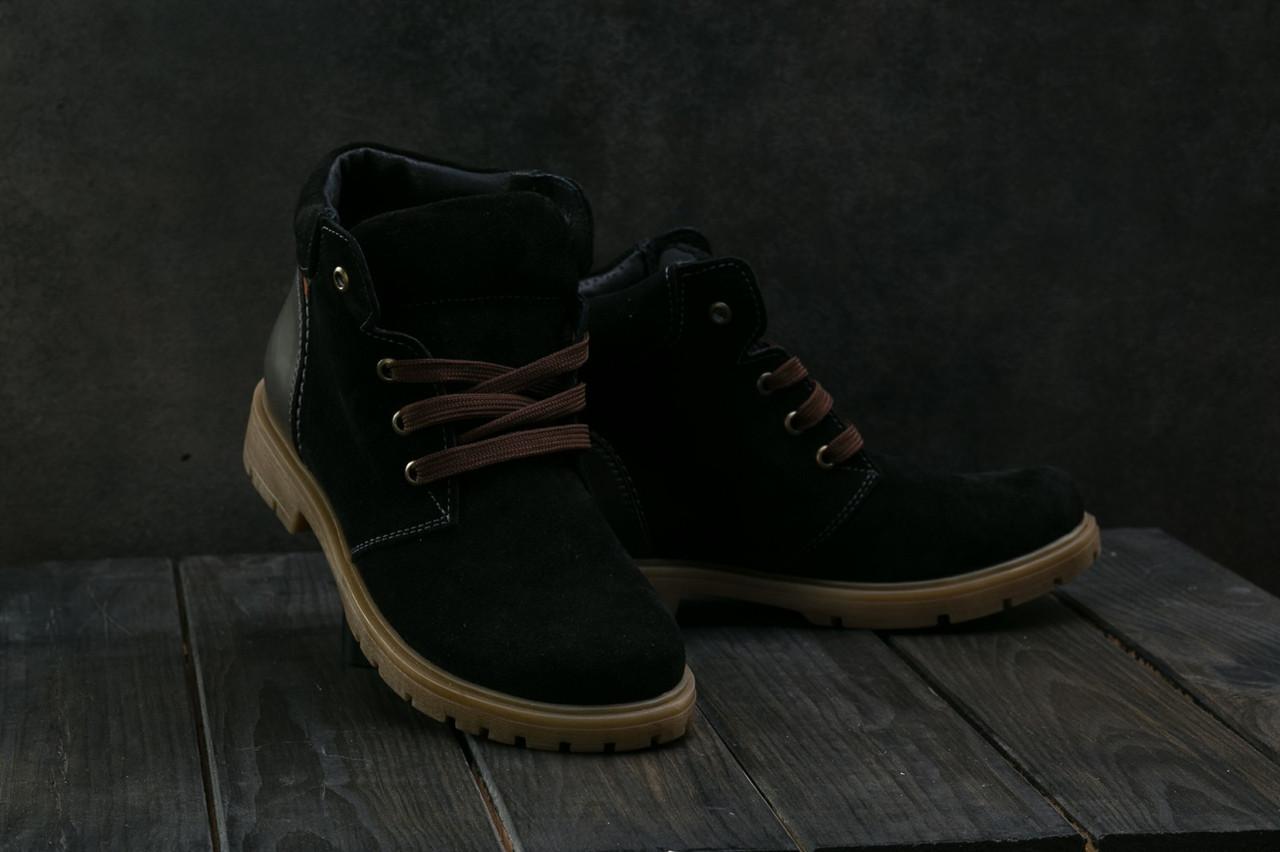 Ботинки подростковые Braxton 397 z черные (замша, зима)