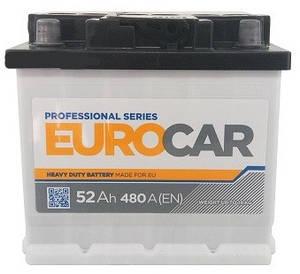 Автомобильный аккумулятор Eurocar 6СТ-52