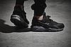 Женские кроссовки Nike Air Huarache Black Grey Найк Аир Хуарачи черные с серым, фото 4
