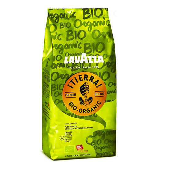 Кофе в зернах Lavazza Tierra bio-organic, 1000 гр.,Лавацца 1 кг