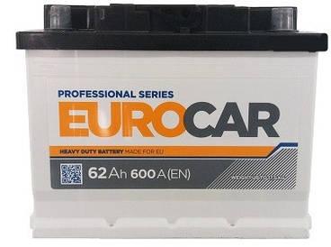 Автомобильный аккумулятор Eurocar 6СТ-62