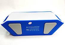 Портативная колонка bluetooth блютуз акустика для телефона мини с флешкой повербанк радио FM синяя S204, фото 2