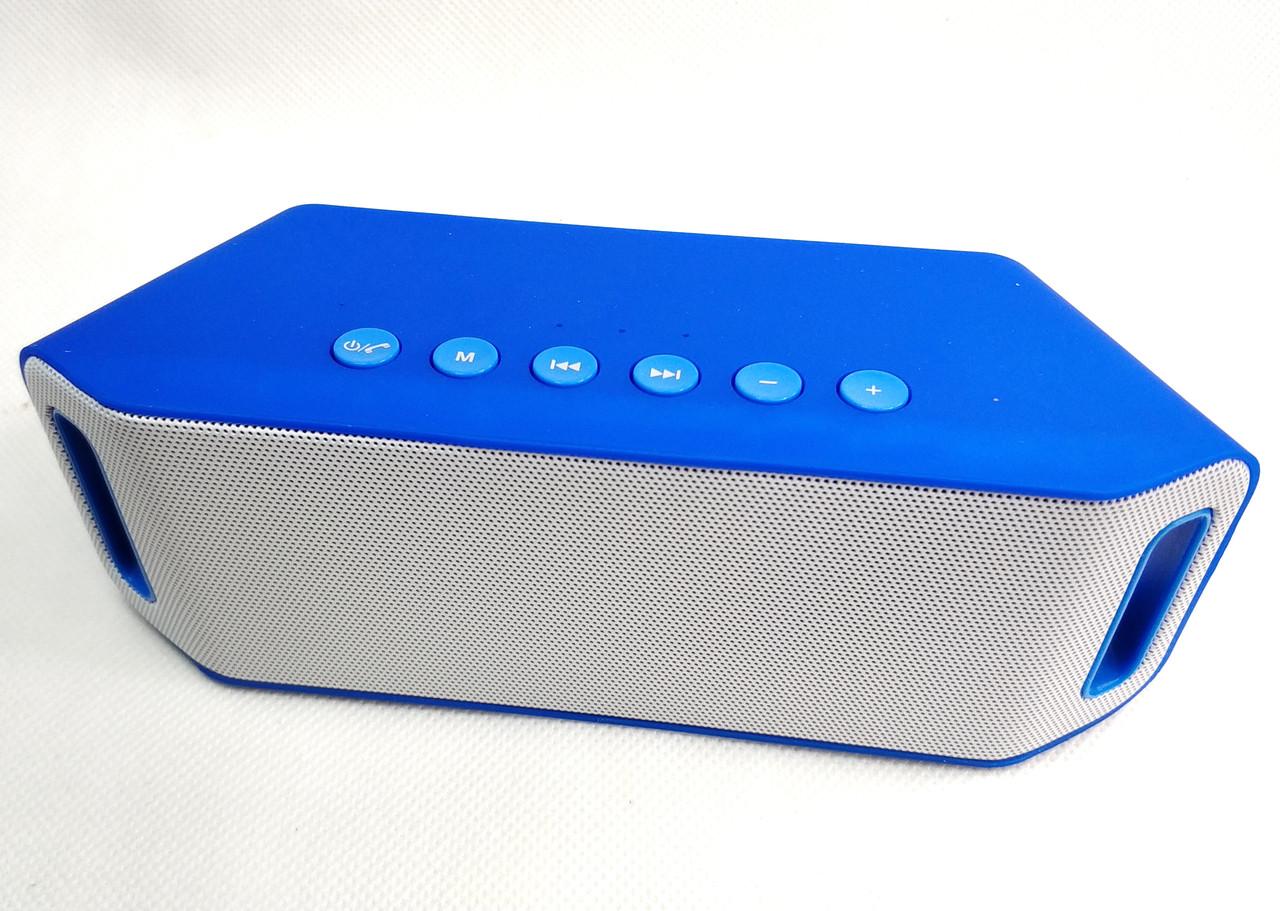 Портативная блютуз колонка акустика bluetooth для телефона мини с флешкой S204 вид с переди