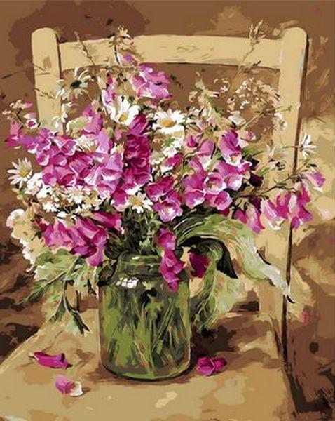 Картина за номерами 40×50 див. Mariposa Улюблені квіти Художник Коттерил Ганні (Q 1051)