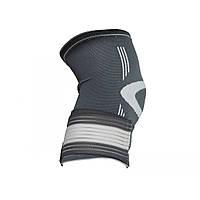 Фиксатор колена LiveUp Knee Support Grey/White L (1шт.) (LS5676-L)