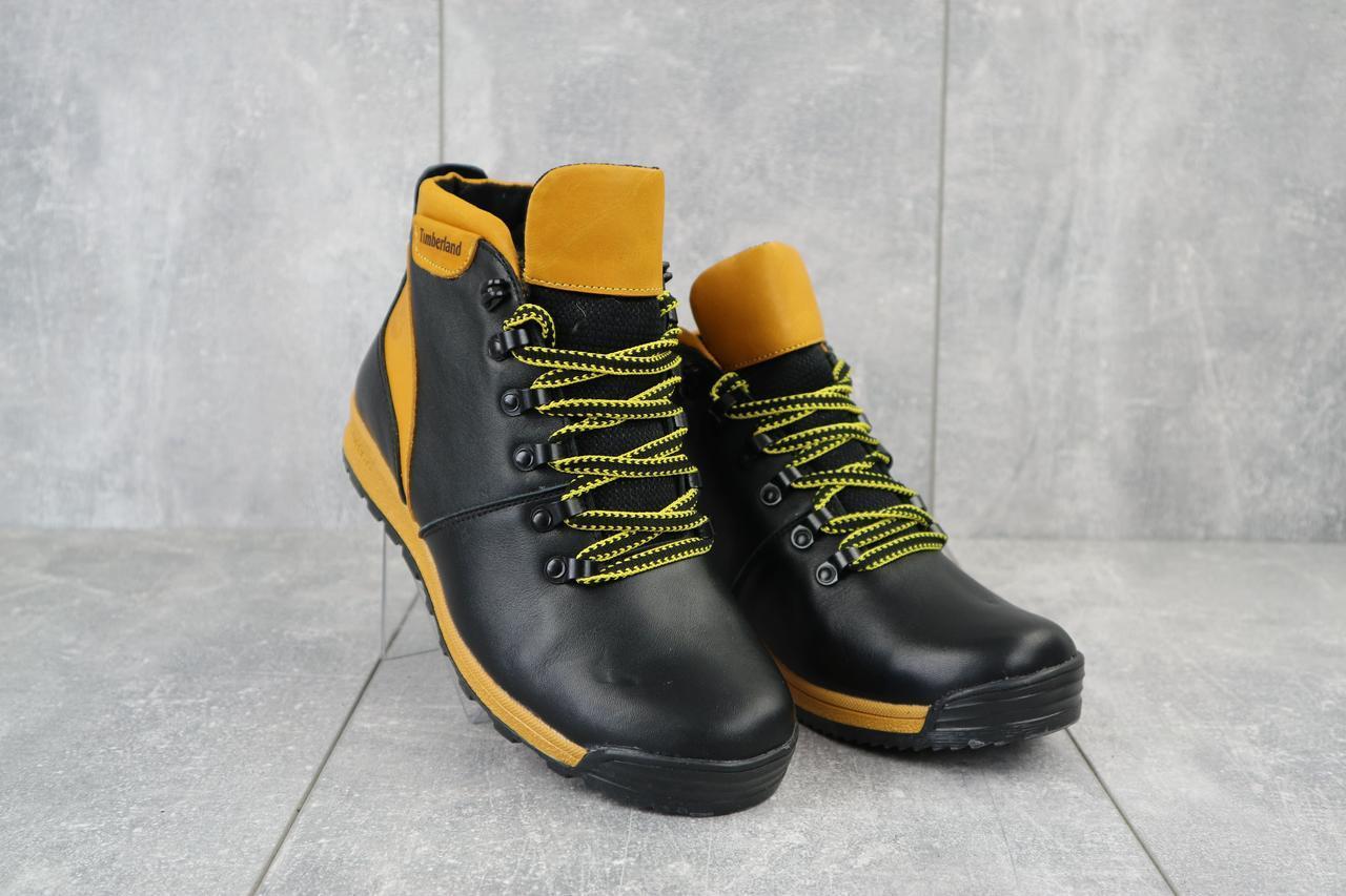 Ботинки подростковые Brand T2 черные-рыжие (натуральная кожа, зима), фото 1