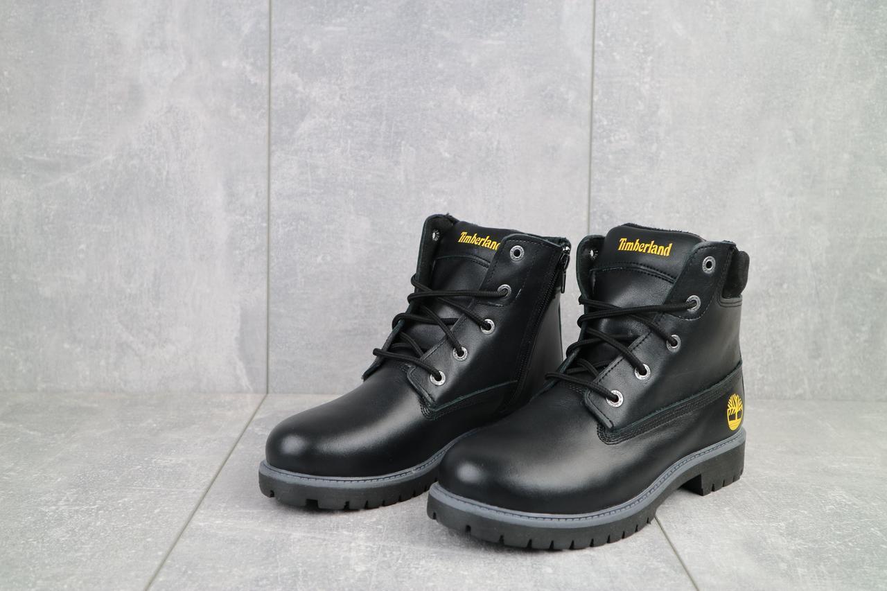 Ботинки подростковые Monster T черные (натуральная кожа, зима), фото 1