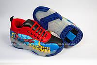 Кроссовки с роликом (heelys, хилисы) - SpiderMan Dark Led. Размеры: 29, 30, 31, 32, 33, 34, 35, 36