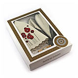 Подарочный набор для сауны женский Luxyart  №1 Маки (5 предметов), фото 2