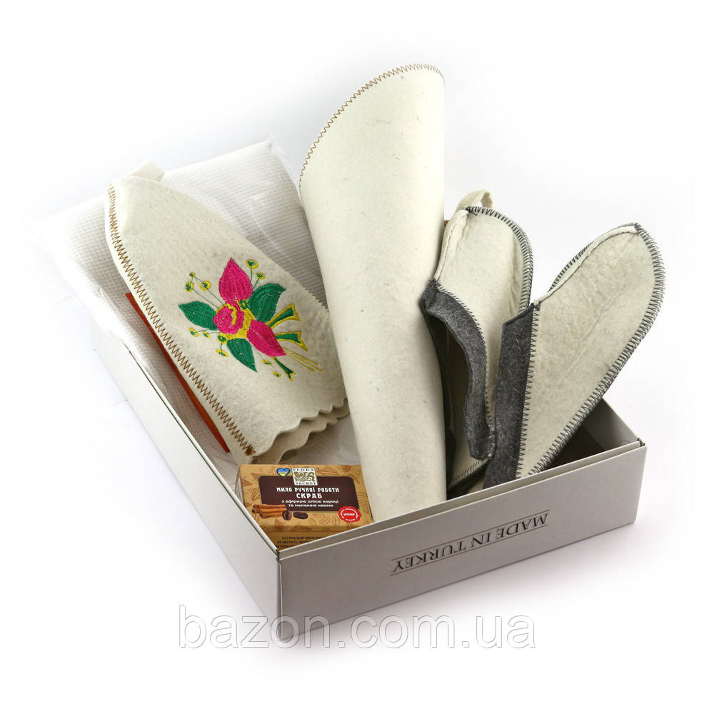 Подарочный набор для сауны женский Luxyart №1 Цветок (5 предметов)