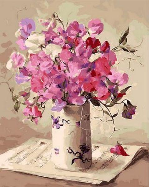 Картина за номерами 40×50 див. Mariposa Музика квітів Художник Коттерил Ганні (Q 1062)