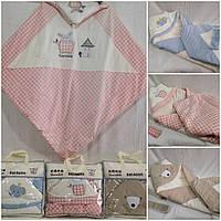 """Ковдра дитяча з капюшоном для новонароджених (3 кольори) """"HONEY"""" купити недорого від прямого постачальника"""