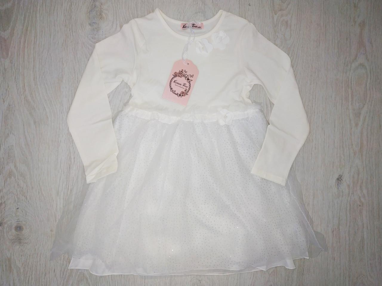 Платья для девочек микро-флис, Венгрия, Lemon Tree, рр. 4-5 лет, арт.7906,