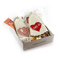 Подарочный набор для сауны парный Luxyart №3 Love is (6 предметов)