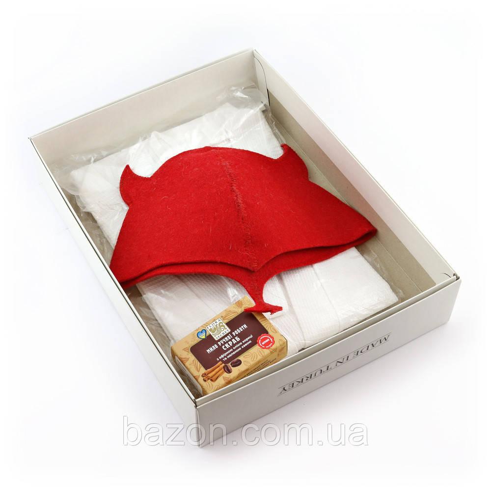 Подарочный набор для сауны женский Luxyart №5 Чертенок (3 предмета)