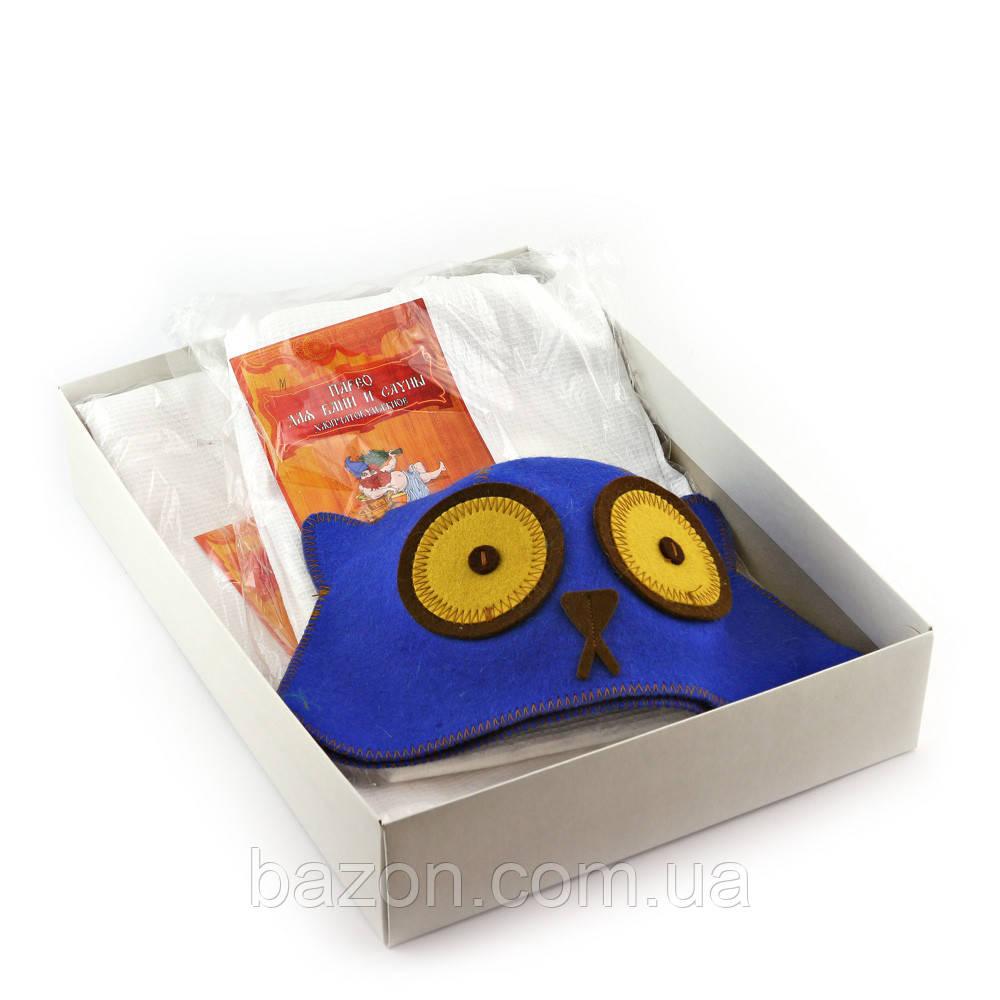 Подарочный набор для сауны Luxyart №7 Котяра (3 предмета)
