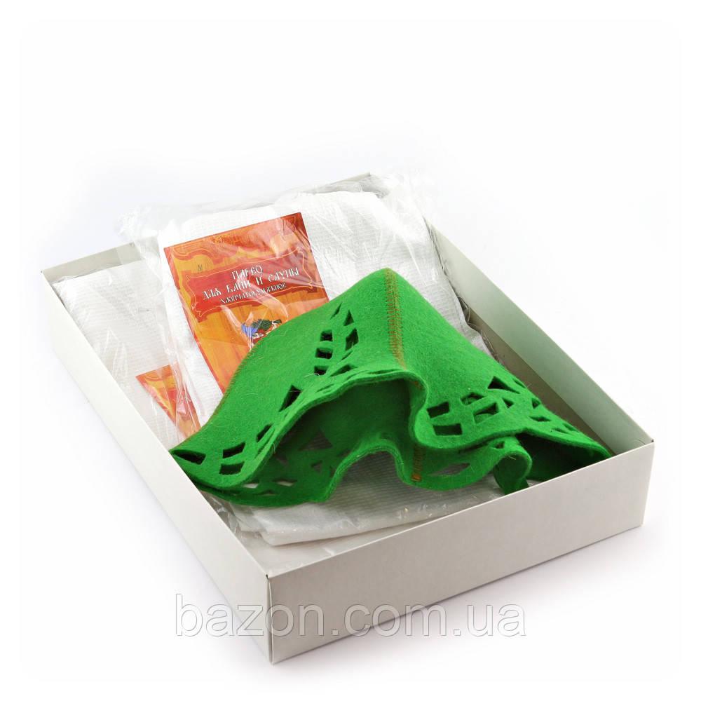 Подарочный набор для сауны Luxyart №7 Зайка зеленая (3 предмета)