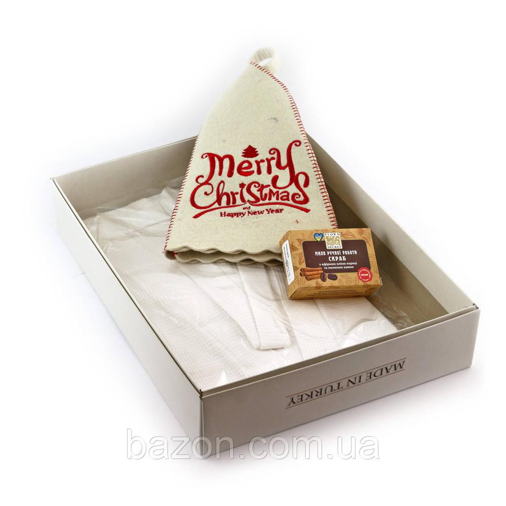 Подарочный набор для сауны Luxyart №8 Merry christmas (3 предмета)