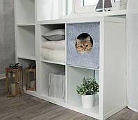"""Домик для животных Digitalwool """"Куб с подушкой"""", серый (DW-92-05)"""