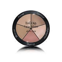 Палетка для макіяжу 5 в 1 - IsaDora Face Wheel All-In-One (Оригінал)