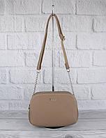 Клатч, сумочка через плечо на 3 отдела David Jones 6100-2 капучино, фото 1