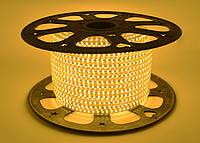 Светодиодная лента SMD 2835 (120 led/m) Slim IP68 Желтая 220V Econom