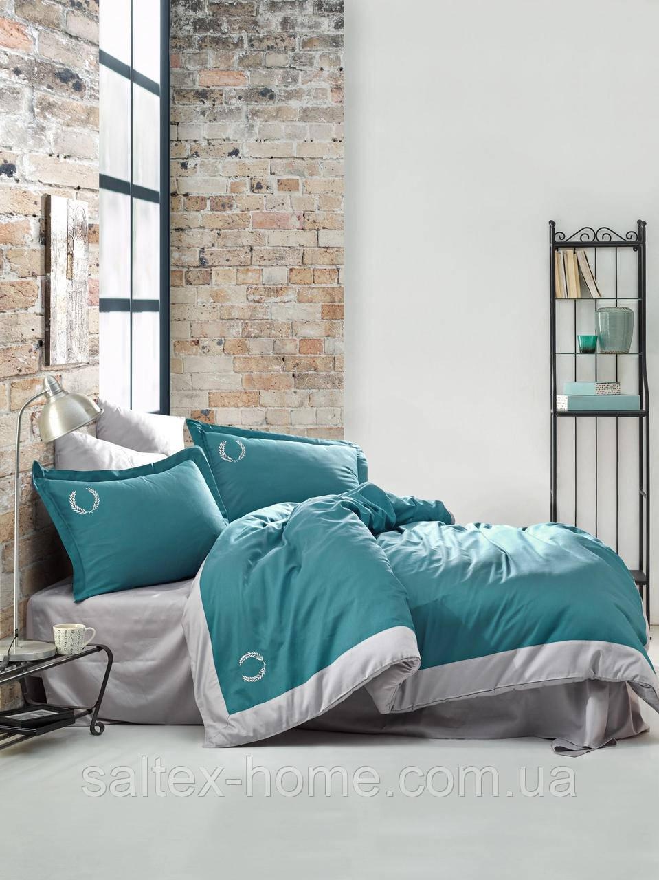 Двуспальный (евро) комплект постельного белья из сатина от ТМ Cotton Box