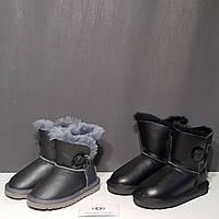 Угі дитячі з гудзиком чорні, фото 1