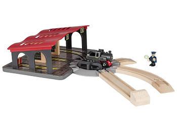 Набор локомотивное депо для деревянной железной дороги Playtive Junior