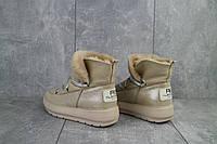 Ботинки женские BENZ 70208 бежевые (натуральная кожа, зима)