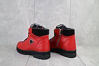 Ботинки женские BENZ 71204 красные (натуральная кожа, зима)