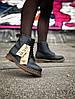 Ботинки кожаные женские Мартенс. Dr. Martens. ХИТ ПРОДАЖ. Зима - Фото