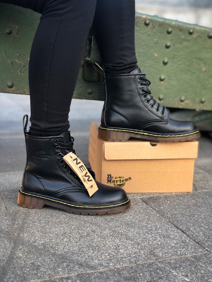 Ботинки кожаные женские Мартенс. Dr. Martens. ХИТ ПРОДАЖ. Зима