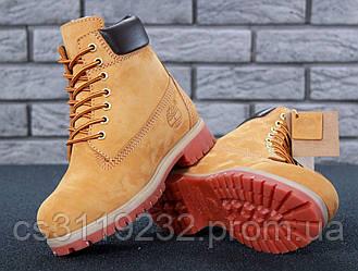 Жіночі зимові черевики Timberland (нат.хутро) (руді)