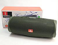 Портативная bluetooth колонка блютуз акустика для телефона с флешкой повербанк зелёная CHARGE4+