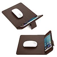 Беспроводное зарядное - коврик Wireless charger mouse pad коричневый, 5 Вт, Зарядные устройства для мобильных телефонов, Зарядное устройство коврик