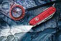 Нож складной, мультитул + LED Victorinox Huntsman Lite (91мм, 21 функция), красный прозр. 1.7915.T, фото 9