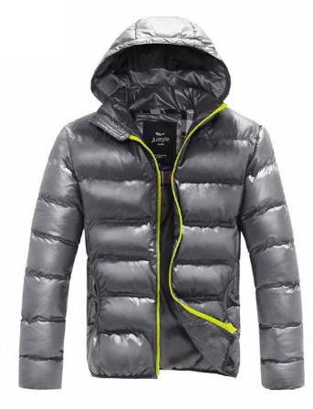 Мужская куртка пуховик дутик (PU кожа) до 178см