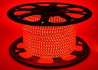 Светодиодная лента SMD 2835 (120 led/m) Slim IP68 Красная 220V Econom